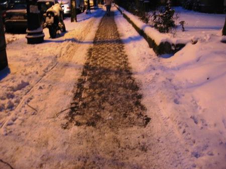 Śnieg na Hasenheide.