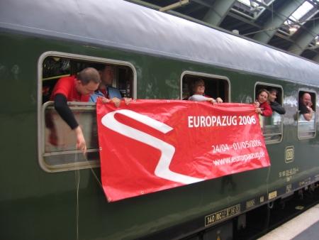 Odjazd pociągu Europa z Berlina.