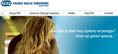 Baner reklamowy ze strony głównej pkp.pl